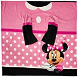 Disney's Minnie Mouse, 'Dot' Youth Comfy Throw Blanket with Sleeves, 48' x 48', Multi Color