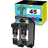 YATUNINK Remanufactured Ink Cartridge Replacement for HP 45 Black Ink Cartridge Compatible for Color Copier 110 120 140 145 150 155 Color Copier 160 170 180 190210 Color Copier 260 270 280 290(2Black)