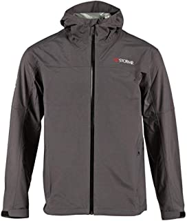 Stormr Nano Men's Lightweight Fishing Jacket or Pants – for Warm Climates and Summer Storms - Wind, Waterproof and Breathable - Premium Quality Raingear Grey, M