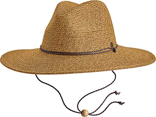 Coolibar UPF 50+ Men's Beach Comber Sun Hat - Sun Protective (Large/X-Large- Brown/Natural)