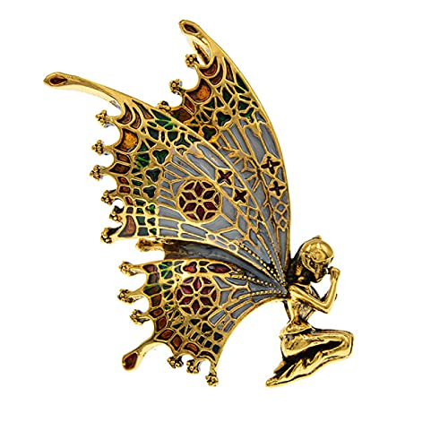 JIANCHEN Beautiful Butterfly Angel brooches for Women Vintage Fashion Brooch pin