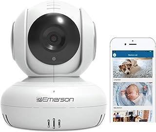 Emerson WiFi Baby Monitor/Pet Nanny Camera, Two Way Audio, Night Vision, Temperature Monitor, Pan/Tilt, Motion Detection, ...