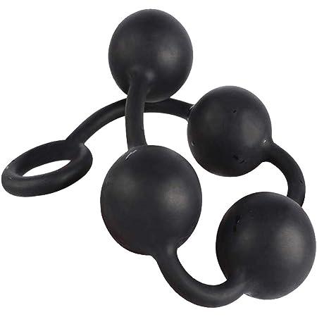 Edostree アナルプラグ アナルビーズ アナル開発 4連球 超ビッグ シリコン製 大人のおもちゃ QGS-01 (M)