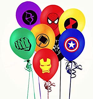 Merchant Medley 24 Count Avengers Inspired Balloons - Large 12 Inch Size - Latex - Includes 8 Styles