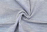 Alltissu Stoff Seersucker Baumwolle gestreift Lurex blau