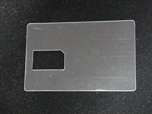 『これ1枚で2つの機能 MINI B-CAS変換アダプター 兼 B-CAS カード テンプレート』の1枚目の画像