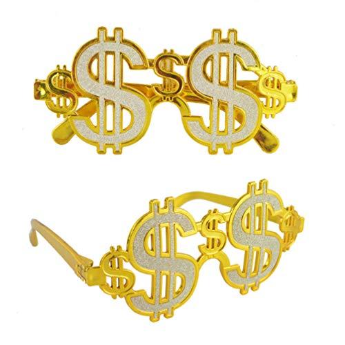 Happyyami Gafas de Dinero en dólares Divertidas Gafas de Fiesta para Rapero...