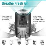 PARTU HEPA Air Purifier - Smoke Air Purifiers for Home with Fragrance Sponge - 100% Ozone Free, Lock Set, Eliminates… 12 【Efficient Three-Stage Filtration System】 PARTU HEPA Air Purifier features a three-stage filtration system. This comprises a pre-filter, a HEPA filter and an activated carbon filter, powerful enough to captures up dust, pollen, smoke, odor, pet dander, filters particles as small as 0.3 microns and air pollution of PM 2.5. 【Air Purifier With Fragrance Sponge】Add a drop of essential oil (Not Included) and some water into sponge below the purifier air outlet, then fragrance will flow with air movements. (Such as Citrus, Honeydew Melon, Musk, Vanilla, Orris or Vetiver) 【Lock Set】It's efficient to avoid error operation caused by pet or child's during their curiosity. (Keep pressing the Lock button for 3 seconds to start avoiding touching mode.) Three fan settings let you control the speed and volume of the Air purifier.
