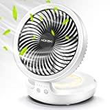 Wireless Desk Fan with Night Breathing Light, Air Circulator USB Table Fan 90 Degree Rotation Portable Foldable Office Fan for Home, Office, Travel, Camping, Outdoor, Indoor Fan, 4 Speed Setting
