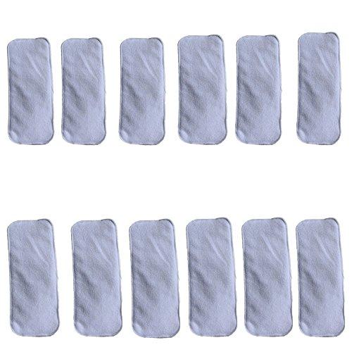 Ohbabyka 3/4/5 couches pour bébé en bambou réutilisables Sacs pour couches en tissu
