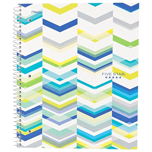 """Five Star Spiral Notebook, 1 Subject, College Ruled Paper, 100 Sheets, 11"""" x 8-1/2"""" Sheet Size, Blue (73135)"""