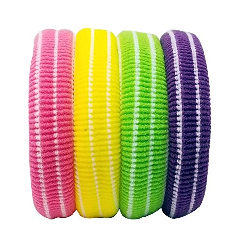 Evogirl Rubberband Elastische Rubber Band Metaal Gratis Zachte Stof Dikke Haarbanden Donkere tinten, Groot, Voor Vrouwen/Meisjes