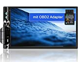 Tristan Auron BT2D7019A Android 10.0 Autoradio mit Navi + OBD 2 Adapter I 7' Touchscreen GPS Bluetooth Freisprecheinrichtung I 32GB USB SD DAB Plus 2 DIN