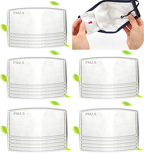 Adult and Kids PM2.5 Activated Carbon Filter 5 Layers Replaceable Filters Paper Insert,Ship from USA (200 PCS)