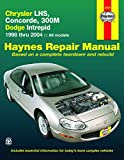 Haynes Repair Manual Chrysler LHS, Concorde, 300M, Dodge Intrepid, 1998 thru 2004