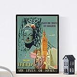 Nacnic Poster vintage. Cartel vintage de Europa. Mujer andaluza. Tamaño A4