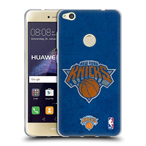 Official NBA Distressed Look New York Knicks Soft Gel Case Compatible for Huawei P8 Lite (2017)