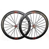 Fengbingl-Cycling Mountainbike-Felgen Clincher Road Carbon Laufradsatz 3K Twill Matte Fahrrad Carbon Rollen -