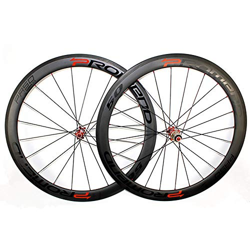 Fengbingl-Cycling Cerchi per Mountain Bike Ruote in Carbonio per Bici da Corsa in Carbonio Opaco Twill 3K di Clincher Road