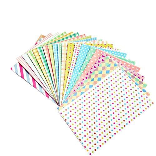 Amazing-Trading (TM) selbsklebendes Papier zum Dekorieren von Fotos, Pastellfarbe, 20 Stück