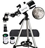 Telescopes for Astronomy Beginners,70mm Aperture 400mm AZ Mount, Astronomical Refractor Telescope Aperture for Kids Adults & Beginners, Fully Multi-Coated Optics,Portable Refractor with Tripod