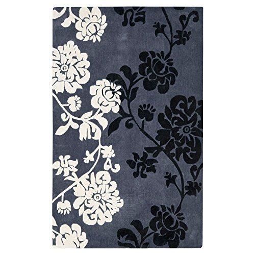 Safavieh Modern Art Collection mda623a Handmade Elegantes Zeitgenössisches Blumen dunkelgrau und Multi Polyester Runner Variation Familie: 2540-p Modern 2'6