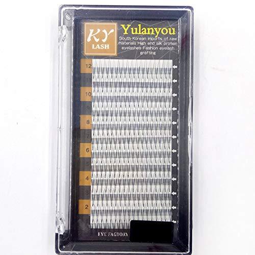 2D 0,07 mm 8-14 mm extensions de cils artificiels faux faux cils 12 rangées