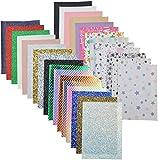 30 Stück 20,3 x 15,2 cm 5 Stil Kunstleder Blatt für die
