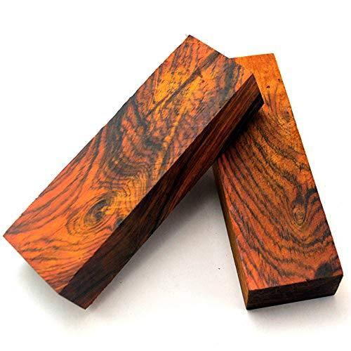 Aibote 2 stück Dalbergia Holzmesser Griffschalen Gelb Sandelholz Platten für Messer Machen Rohlinge Klingen Benutzerdefinierte DIY Material Werkzeuge (4,72