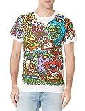 Liquid Blue Joey Mars Zidzoii Graphic Art T-Shirt Top, White, Medium