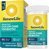 Renew Life Ultimate Flora Adult Colon Care Probiotic, 80 Billion CFU, 60 Count; (Package May Vary)