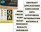 Projex Boards, Self-Adhesive Science Presentation Board Subtitles, 26 High-Visibility Titles and Graphic Labels (Titles: 1-1/2 x 8-1/2 inches)