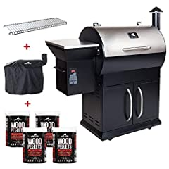"WHATS INCLUDED_ In this bundle you get the Alpha Silverbac pellet grill with dual mode controller. 4 bags of premium competition blend pellet fuel (20 lb each). A rugged cover to protect your investment. A 1/4"" stainless steel upper rack extension to..."
