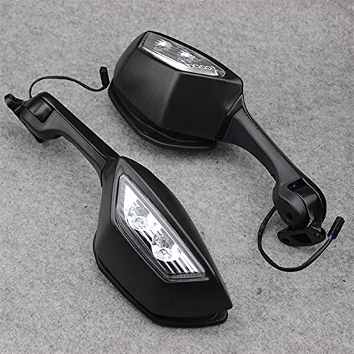 YMSHD para Kawasaki Ninja Zx10R Zx-10R ZX 10R 2011-2015 2014 Espejos de Motocicleta Luces Intermitentes LED señales Moto retrovisor Espejo retrovisor