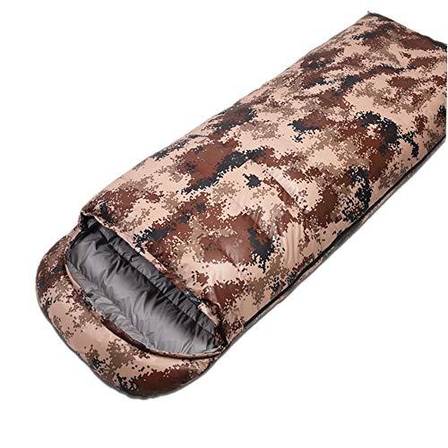 Jtoony Sac de Couchage Camping Sac de Couchage Compression Chaude Carry Momie Sac Inclus - Idéal pour Le Camping, la randonnée, la randonnée, Les Doe Awards, Les Festivals (Color : Desert Camouflage)