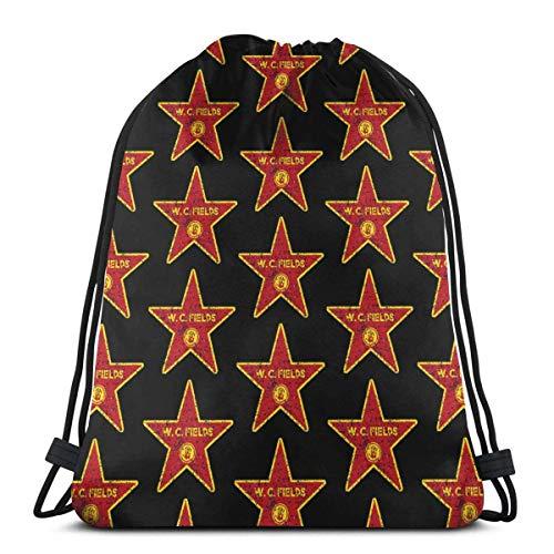 JHUIK Zaino scuola zaino con coulisse Zaino con coulisse W.C. Fields-Walk Of Fame Light Sport Sport Sackpack Cinch Bags per l'escursionismo