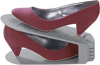 Wenko 42060900 schoenhouder set van 4, polystyreen, grijs, 10,0 x 26,0 x 12,8 cm
