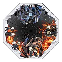 Cosplayrim ゲーム・オブ・スローンズ 折りたたみ傘 雨傘 日傘 超軽量 晴雨兼用 紫外線 UVカット ミッドナイトブルー
