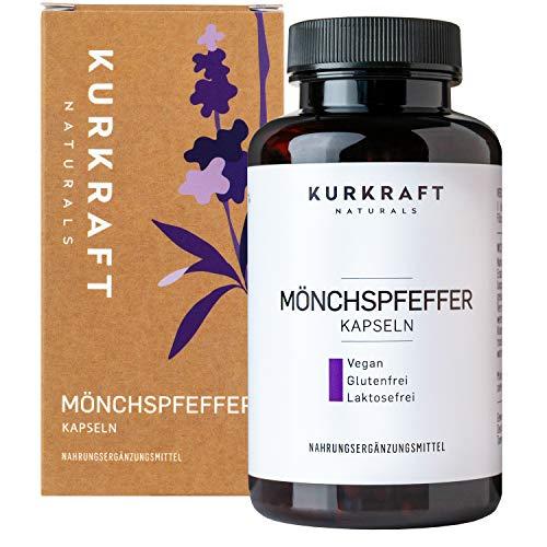 Kurkraft Mönchspfeffer Extrakt (365 Kapseln) - Original Vitex Agnus Castus - 10mg Extrakt je Kapsel - Vegan - Mit Bio Leinsamenmehl