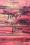 Temps avec Dieu cahier: Carnet chrétien, 108 pages papier quadrillé, papier à carreaux (6x9 / 15,24 x 22,86 cm) pour la prière, les sermons, l'église et les dates