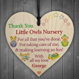 RED OCEAN Personalised Thank You Nursery Teacher Gift Hanging Plaque Pre-School Home Sign