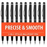 Stylus Pen, UROPHYLLA Stylus Pens for Touch Screens, 2 in 1 Capacitive Stylus Ballpoint Pen Stylus for iPad, Tablet, iPhone, Kindle, Samsung and Other Touch Screen Devices (Black-10Pack)