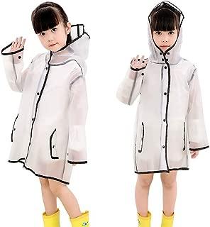 TopZK Kids Clear Raincoat Rain Jacket Toddler Rain Coats Transparent Rainwear
