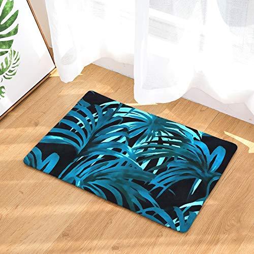 Alfombra de entrada con estampado de hoja de palma, felpudo con diseño de pájaro y flor, rectángulo decorativo, alfombra de cocina, decoración del hogar, alfombras de baño antideslizantes, A9 50x80cm