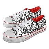 Jex Shoes - Zapatillas de Sintético para niña Rojo Blanco 34 EU, Color Rojo, Talla 30 EU Niño