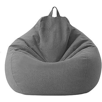 Tongdejing, Copertura per poltrona a sacco in cotone e lino, ergonomica, ideale per interni e soggiorno, protegge dall'umidità, senza imbottitura