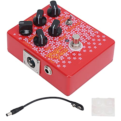 Eujgoov Bass Guitar Effects Pedal Driver, CP‑59 XLR Output DC 9V Pedals Driver with DI Tube Amplifier