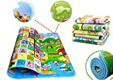 ZIZLY Double Sided Water Proof Baby Mat Carpet Baby Crawl Play Mat Kids