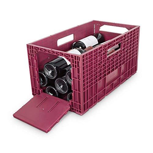 ISOCO Weinbox - Das flexible Weinregal, schwarz (3 Stück)