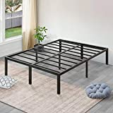 SLEEPLACE 18 Inch High Profile Heavy Duty Steel Slat / Mattress Foundation / Bed Frame, Queen